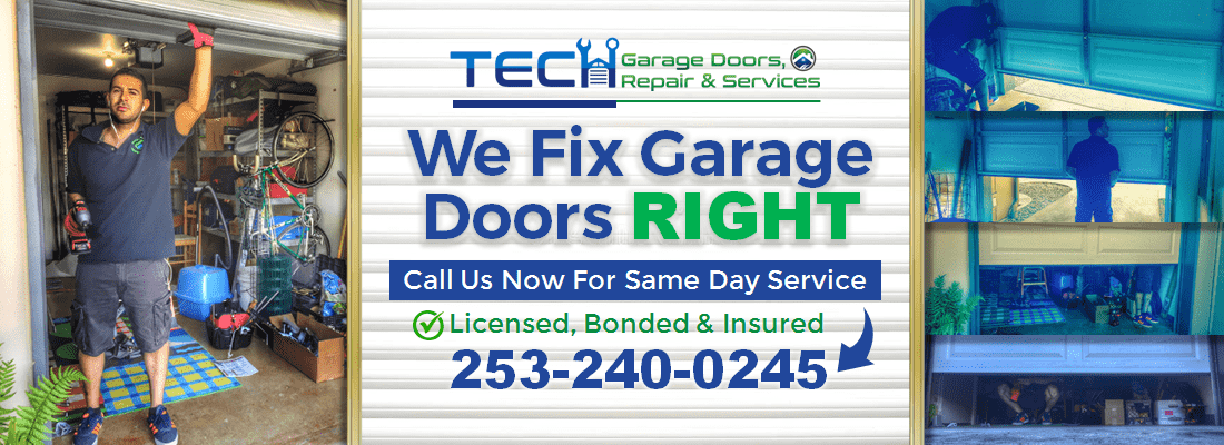 Tech Garage Doors Repair Amp Services In Puyallup Wa